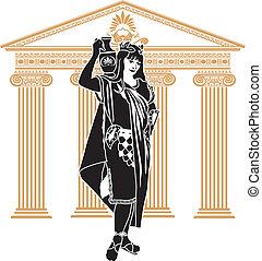 ローマ人, patrician, 女, 型板