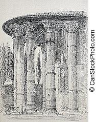 ローマ, イタリア, 寺院, vesta