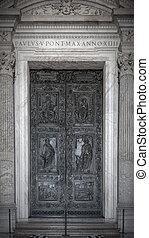 ローマ, バチカン, 大聖堂, ドア, 都市