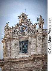 ローマ, バチカン, 大聖堂, 時計, 都市