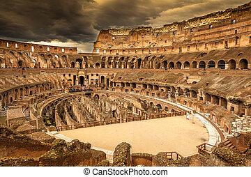 ローマ, 中, colosseum, イタリア