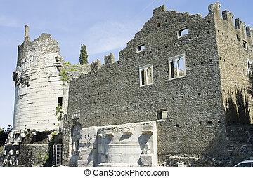 ローマ, 壮大な墓, cecilia, metella