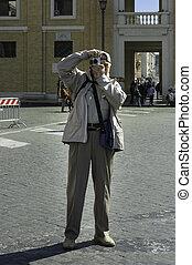 ローマ, 観光客, 年配
