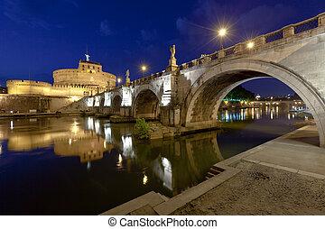 ローマ, angelo, sant, 橋, 城, より古い