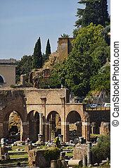 ローマ, caesar, フォーラム, 光景