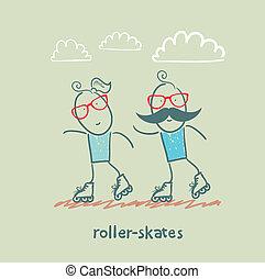 ローラースケートをする