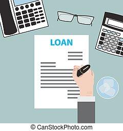 ローン, 合意, 契約, 銀行業, 協力