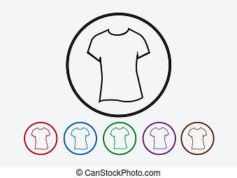 ワイシャツ, アイコン, tシャツ, 服装, 衣類, アイコン