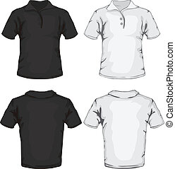 ワイシャツ, テンプレート, ポロ, デザイン