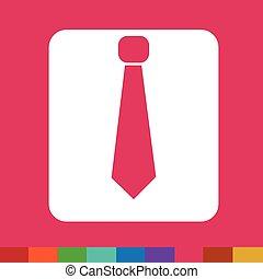 ワイシャツ, ネクタイ, イラスト, 印, デザイン, アイコン