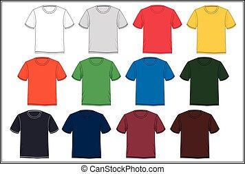 ワイシャツ, ベクトル, t, テンプレート, カラフルである