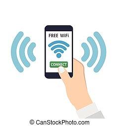 ワイヤレス結線, 無料で, wifi