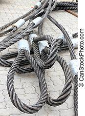 ワイヤー, 亜鉛メッキされた, 細部, ロープ
