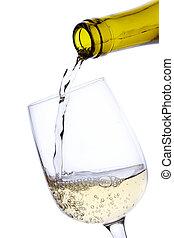 ワイン, たたきつける, 白