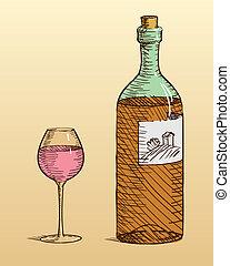 ワイン ガラス, びん