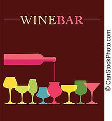 ワイン ガラス, 注ぎなさい, colorfull