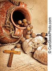 ワイン, 水差し, bread