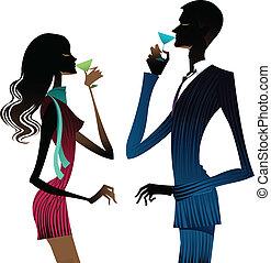 ワイン, 飲むこと, 恋人