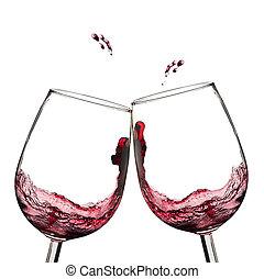 ワイン, toast.
