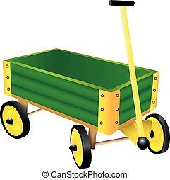 ワゴン, おもちゃ, 緑