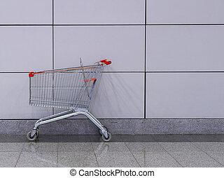 ワゴン, 買い物, 空, カート