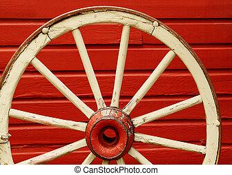 ワゴン, 赤い壁, 車輪