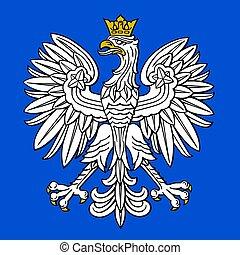 ワシ, コート, 国民, 腕, ポーランド語, ポーランド