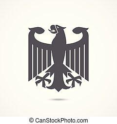 ワシ, ドイツ, 腕, コート