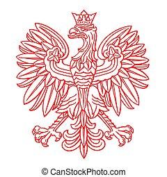 ワシ, ポーランド, 白い背景
