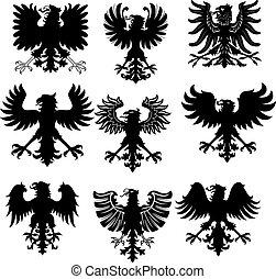 ワシ, heraldic
