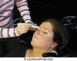 ワックスを掛けること, 彼女, 眉毛