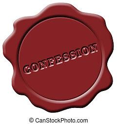 ワックス, confession, 赤, シール