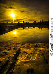 ワット, angkor, 日の出