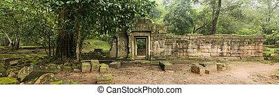 ワット, baphuon, 壁, カンボジア, 古い, 寺院, 戸口, angkor