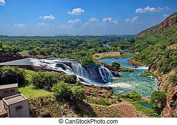 ワニ, 滝, 川
