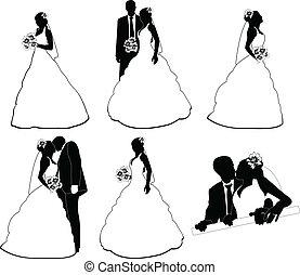 一些, 婚禮, 黑色半面畫像