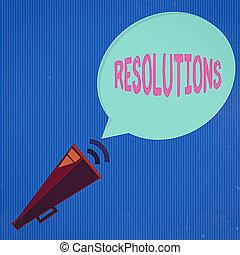 一人一人, ブランク, resolutions., メガホン, パイプで送られた, 行為, 概念, 効果, 単語, 執筆, 概念, アイコン, テキスト, simpler, ビジネス複合体, halftone, 分析, bubble., スピーチ, 音
