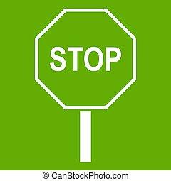 一時停止標識, 緑, 道, アイコン