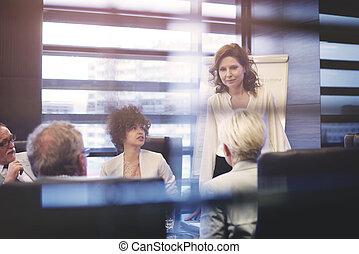 一生懸命働く, 窓, によって, 協力者, 光景