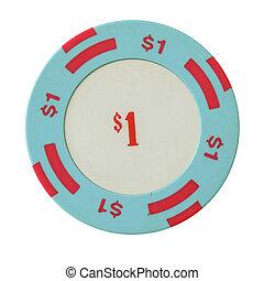 一美元, 娱乐场芯片
