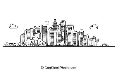 一般的, 都市 スカイライン, 様々, 木