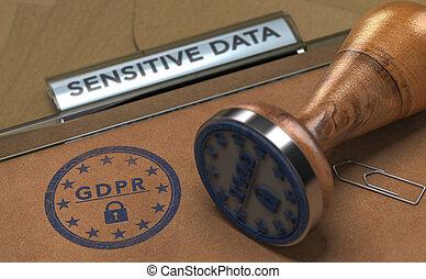一般, 數据保護, 規定, gdpr, compliance.