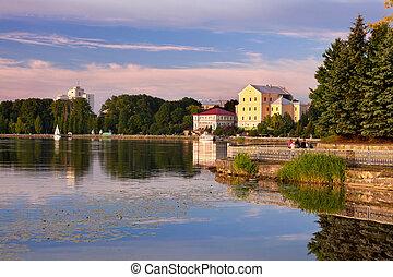 一般, 看法, 城市, ......的, ternopil., 烏克蘭