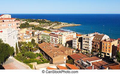 一般, 看法, ......的, catalan, city., tarragona