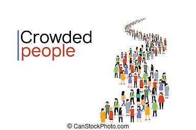 一起, 人, 通訊, 人們, 隊, 大, 社會, 网絡, 矢量, 組, 人群