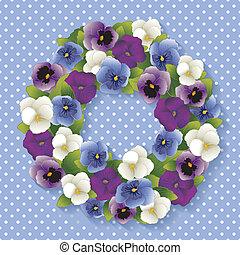 三色紫羅蘭, 彩色蜡筆, 藍色, 花冠