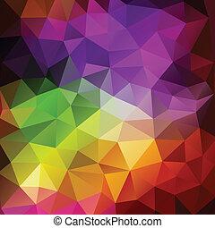 三角形, カラフルである, 抽象的, 三角, 背景, polygons., 幾何学的, モザイク