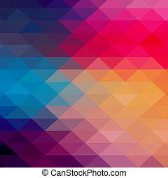 三角形, カラフルである, banner., パターン, shapes., text., 情報通, レトロ, 背景, 場所, 幾何学的, あなたの, モザイク