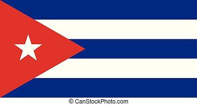 三角形, キューバ, 星, 国旗, 色, vector.