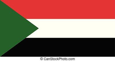 三角形, スーダン, 国民, 色, 旗, vector.
